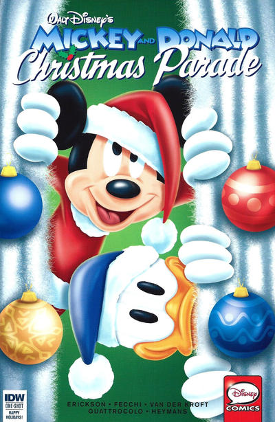 Cover for Mickey and Donald Christmas Parade (IDW, 2015 series) #2 [Subscription Cover]