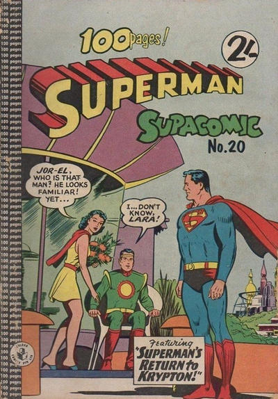 Cover for Superman Supacomic (K. G. Murray, 1959 series) #20