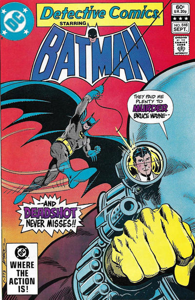 Cover for Detective Comics (DC, 1937 series) #518 [Newsstand]