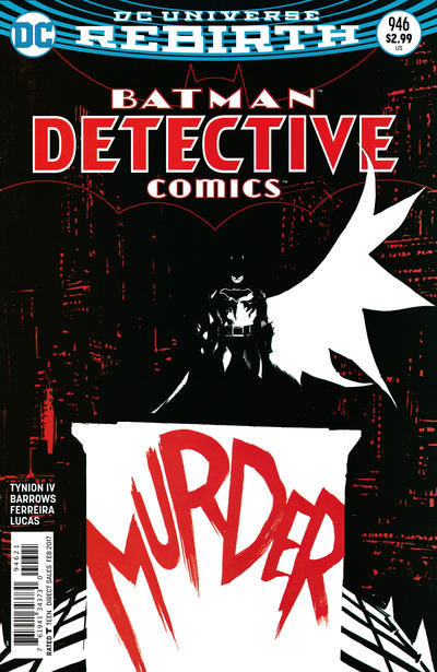 Cover for Detective Comics (DC, 2011 series) #946