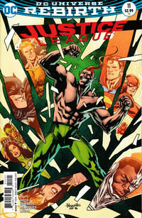 Cover Thumbnail for Justice League (DC, 2016 series) #11 [Yanick Paquette Cover]