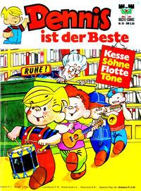 Cover Thumbnail for Bastei-Comic (Bastei Verlag, 1972 series) #19 - Dennis ist der Beste - Kesse Söhne Flotte Töne