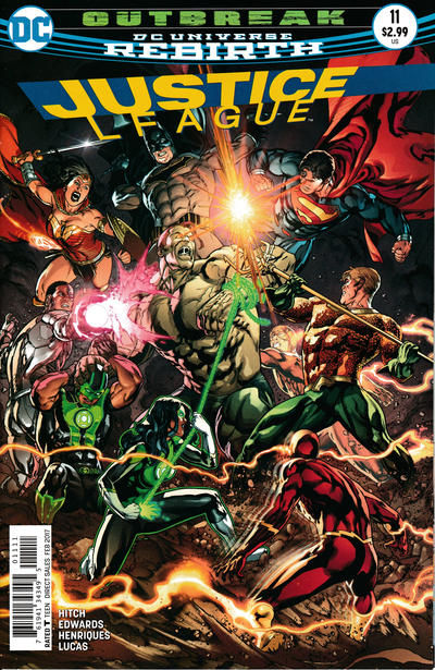 Cover for Justice League (DC, 2016 series) #11 [Fernando Pasarin / Matt Ryan Cover]
