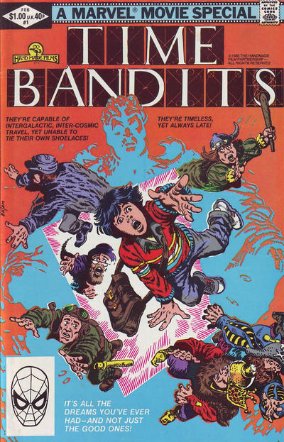 Cover for Time Bandits (Marvel, 1982 series) #1 [Direct]