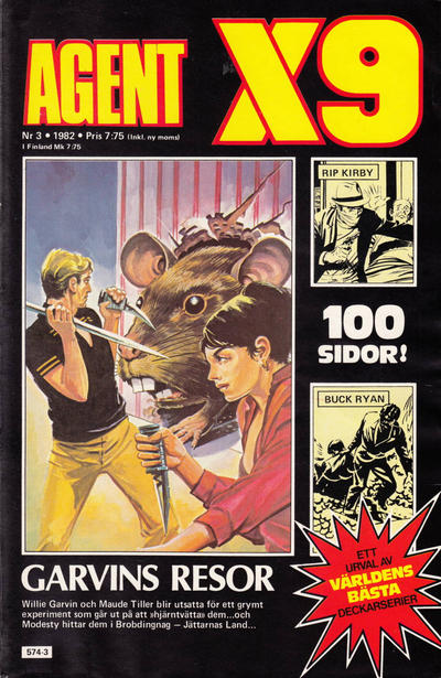Cover for Agent X9 (Semic, 1971 series) #3/1982