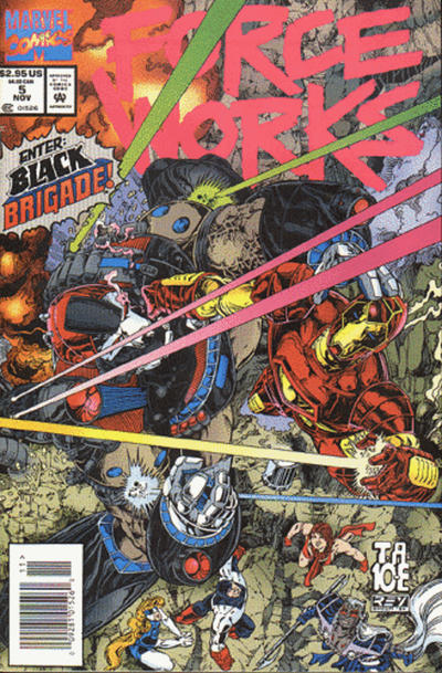Cover for Force Works (Marvel, 1994 series) #5 [Newsstand Bagged Edition]