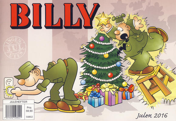 Cover for Billy julehefte (Hjemmet / Egmont, 1970 series) #2016 [Bokhandelutgave]