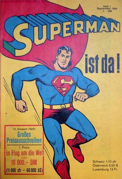 Cover for Superman (Egmont Ehapa, 1966 series) #1/1966