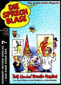 Cover Thumbnail for Die Sprechblase (Norbert Hethke Verlag, 1978 series) #210