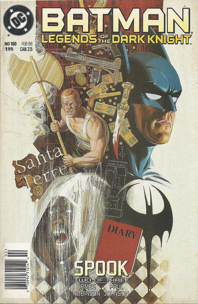 Cover for Batman: Legends of the Dark Knight (DC, 1992 series) #103 [Direct Sales]