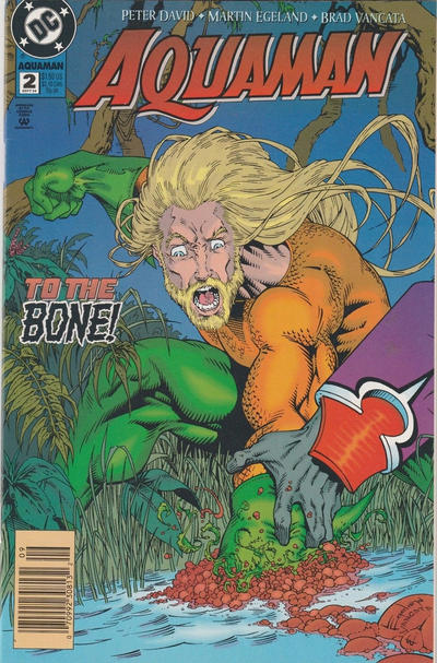 Cover for Aquaman (DC, 1994 series) #2 [Newsstand]