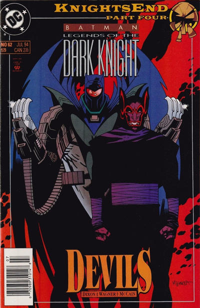 Cover for Batman: Legends of the Dark Knight (DC, 1992 series) #62 [Boxed Pack Variant]