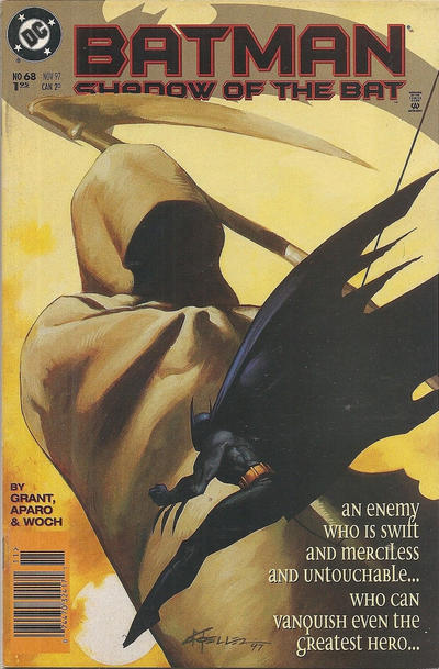 Cover for Batman: Shadow of the Bat (DC, 1992 series) #68 [Newsstand Edition]