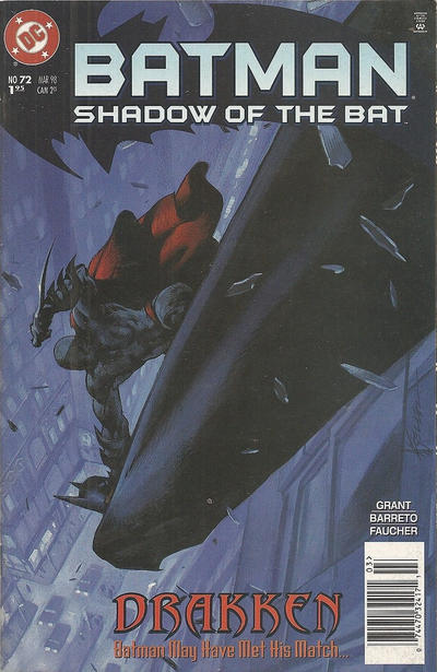 Cover for Batman: Shadow of the Bat (DC, 1992 series) #72 [Newsstand Edition]