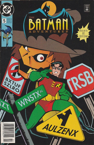 Cover for The Batman Adventures (DC, 1992 series) #5 [Direct Edition]