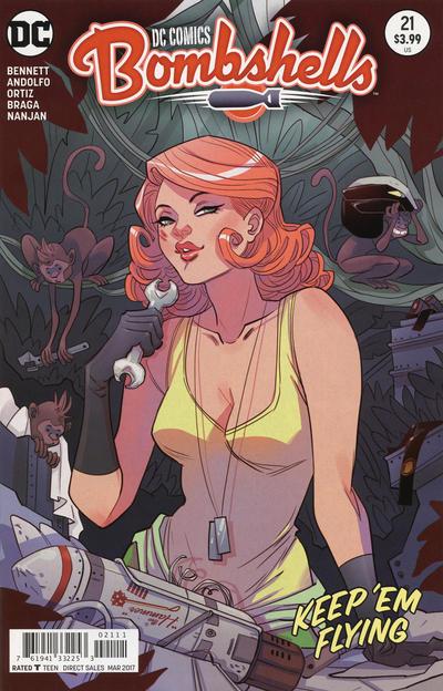 Cover for DC Comics: Bombshells (DC, 2015 series) #21