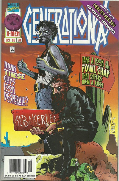 Cover for Generation X (Marvel, 1994 series) #20 [Direct Edition]