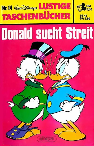 Cover for Lustiges Taschenbuch (Egmont Ehapa, 1967 series) #14 - Donald sucht Streit [5,60 DM]