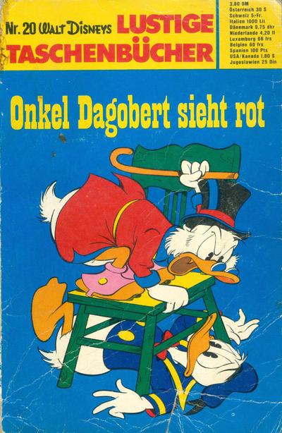 Cover for Lustiges Taschenbuch (Egmont Ehapa, 1967 series) #20 - Onkel Dagobert sieht rot