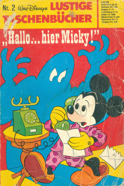"Cover for Lustiges Taschenbuch (Egmont Ehapa, 1967 series) #2 - ""Hallo... Hier Micky!"""