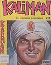 Cover for Kaliman (Editora Cinco, 1976 series) #218