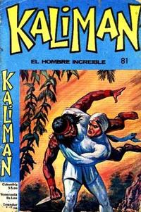 Cover Thumbnail for Kaliman (Editora Cinco, 1976 series) #81