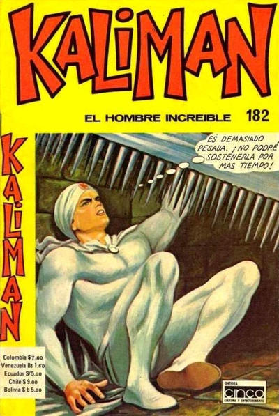 Cover for Kaliman (Editora Cinco, 1976 series) #182