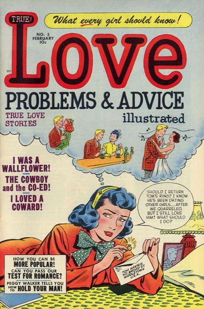 Cover for True Love Problems and Advice Illustrated (Harvey, 1949 series) #5