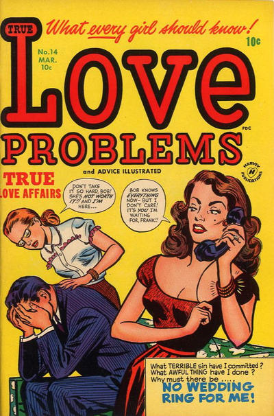 Cover for True Love Problems and Advice Illustrated (Harvey, 1949 series) #14