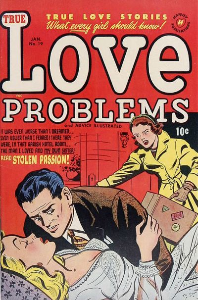 Cover for True Love Problems and Advice Illustrated (Harvey, 1949 series) #19