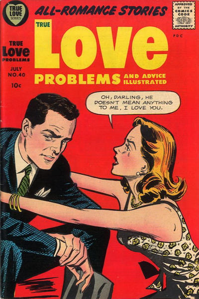 Cover for True Love Problems and Advice Illustrated (Harvey, 1949 series) #40