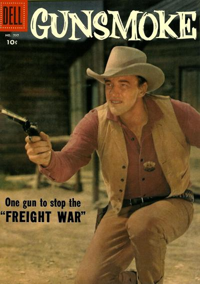 Cover for Four Color (Dell, 1942 series) #797 - Gunsmoke