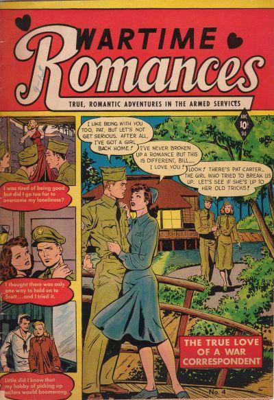 Cover for Wartime Romances (St. John, 1951 series) #4