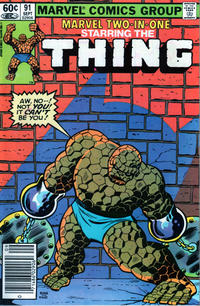 Cover Thumbnail for Marvel Two-in-One (Marvel, 1974 series) #91 [Newsstand]