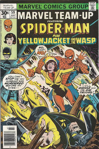Cover for Marvel Team-Up (Marvel, 1972 series) #59 [30¢ Cover Price]