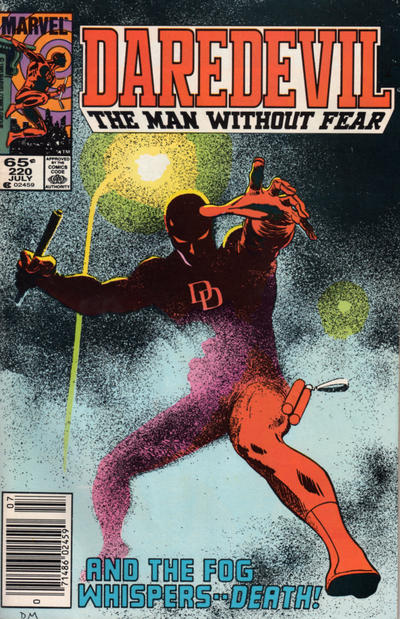 Cover for Daredevil (Marvel, 1964 series) #220 [Direct Edition]