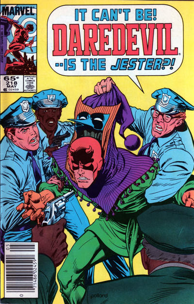 Cover for Daredevil (Marvel, 1964 series) #218 [Newsstand]