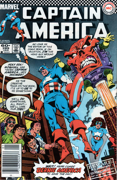 Cover for Captain America (Marvel, 1968 series) #289 [Direct Edition]