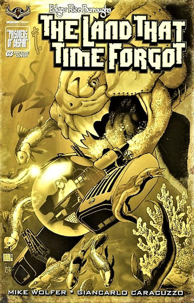Cover for Edgar Rice Burroughs' The Land That Time Forgot (American Mythology Productions, 2016 series) #3 [Painted Subscription Cover]