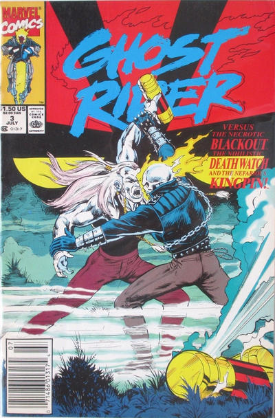 Cover for Ghost Rider (Marvel, 1990 series) #3 [Direct Edition]