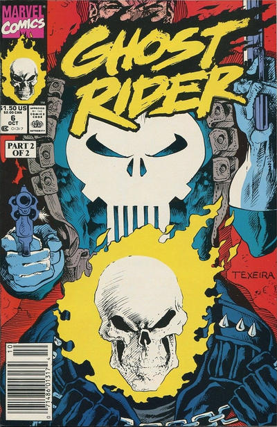 Cover for Ghost Rider (Marvel, 1990 series) #6 [Direct Edition]