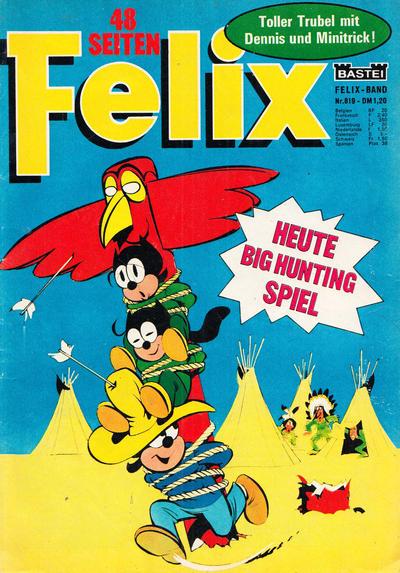 Cover for Felix (Bastei Verlag, 1958 series) #819
