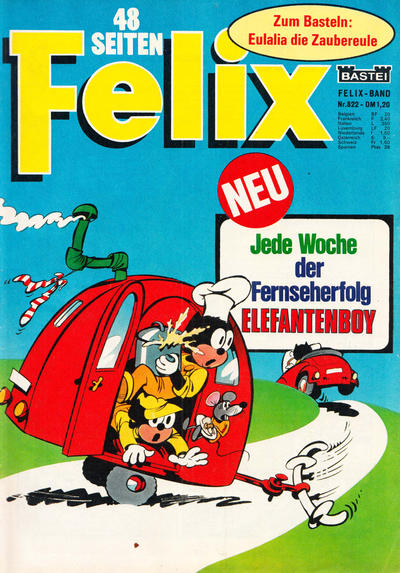 Cover for Felix (Bastei Verlag, 1958 series) #822