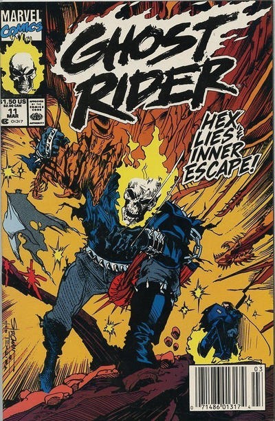Cover for Ghost Rider (Marvel, 1990 series) #11 [Direct Edition]