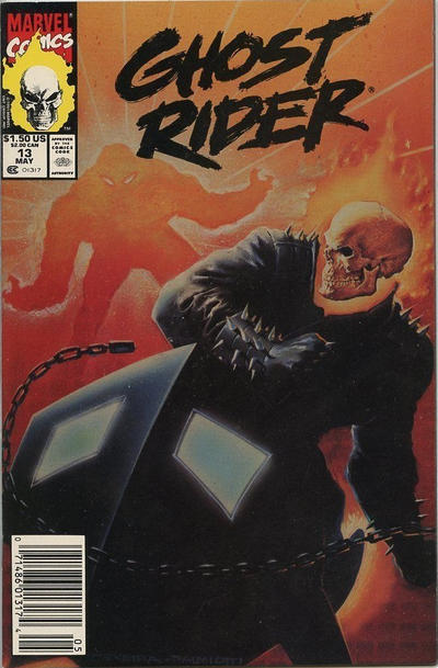 Cover for Ghost Rider (Marvel, 1990 series) #13 [Direct Edition]