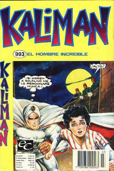 Cover for Kaliman (Editora Cinco, 1976 series) #993