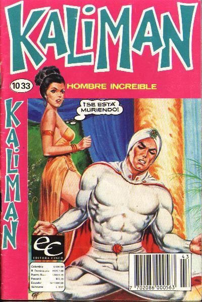 Cover for Kaliman (Editora Cinco, 1976 series) #1033
