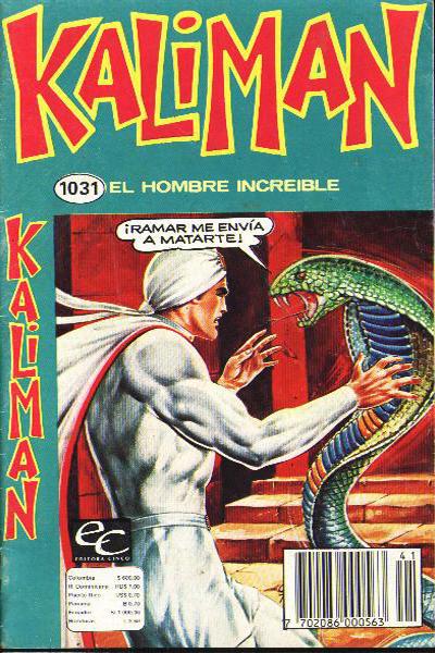 Cover for Kaliman (Editora Cinco, 1976 series) #1031
