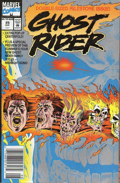 Cover for Ghost Rider (Marvel, 1990 series) #25 [Newsstand Edition]