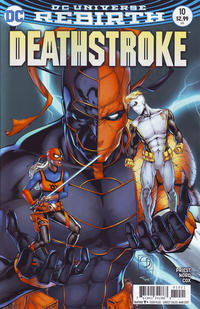 Cover Thumbnail for Deathstroke (DC, 2016 series) #10 [Shane Davis Cover Variant]